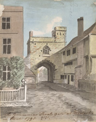 The Grammar School Gate at Rochester in Kent